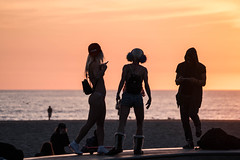Three Silhouettes - Venice, California