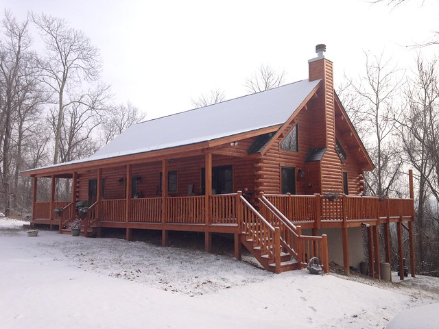 Our snowy home on the mountain