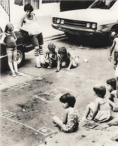 1960s and 1970s: Indigenous Brooklyn game of 'skully'.