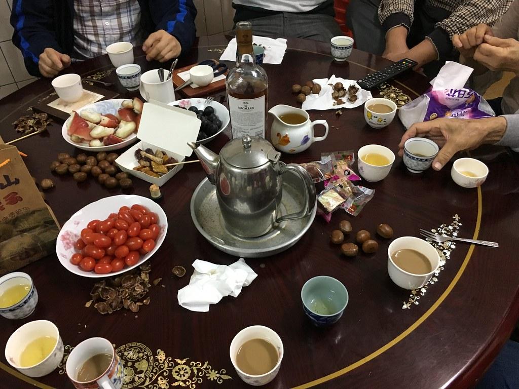 喝茶喝酒吃東西