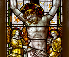 Jesus in St Mary's stained glass