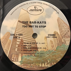 BAR-KAYS:TOO HOT TO STOP(LABEL SIDE-A)
