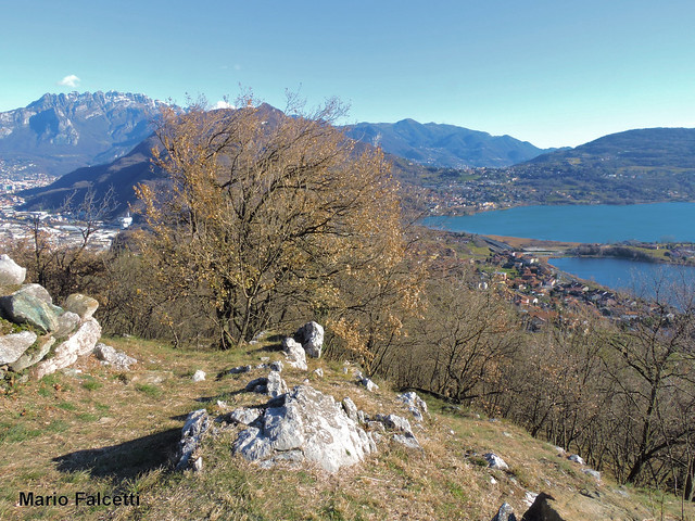 Italy: Civate (Lecco): Lake of Annone and Resegone from the trail to the Abbey of San Pietro al Monte