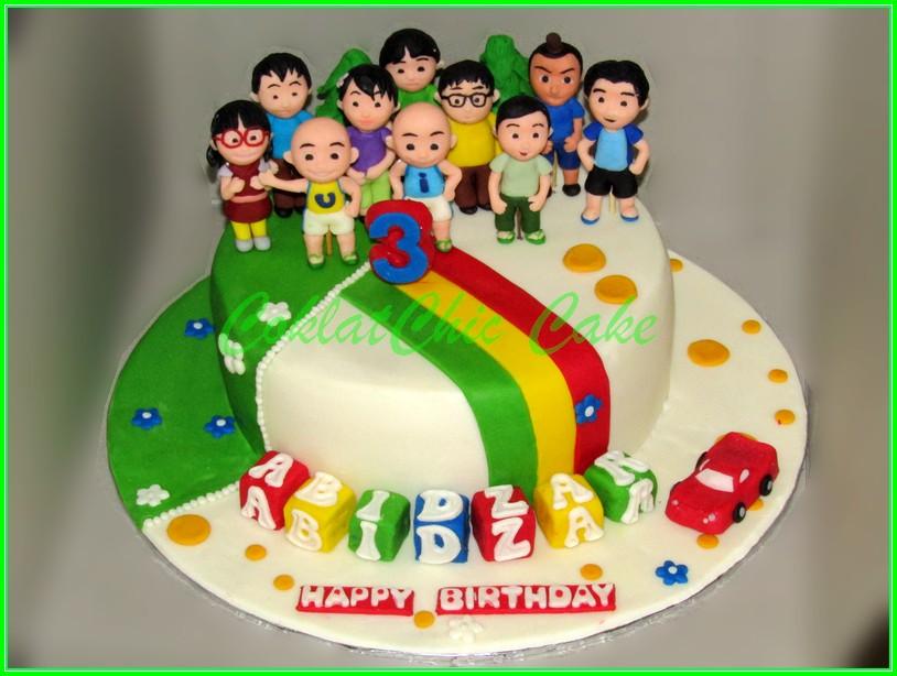 Cake Upin Ipin ABIDZAR 18cm