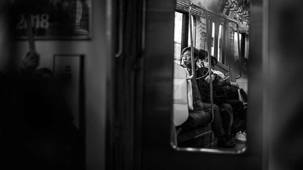Thoughts - Tokyo, Japan - Black and white street photography