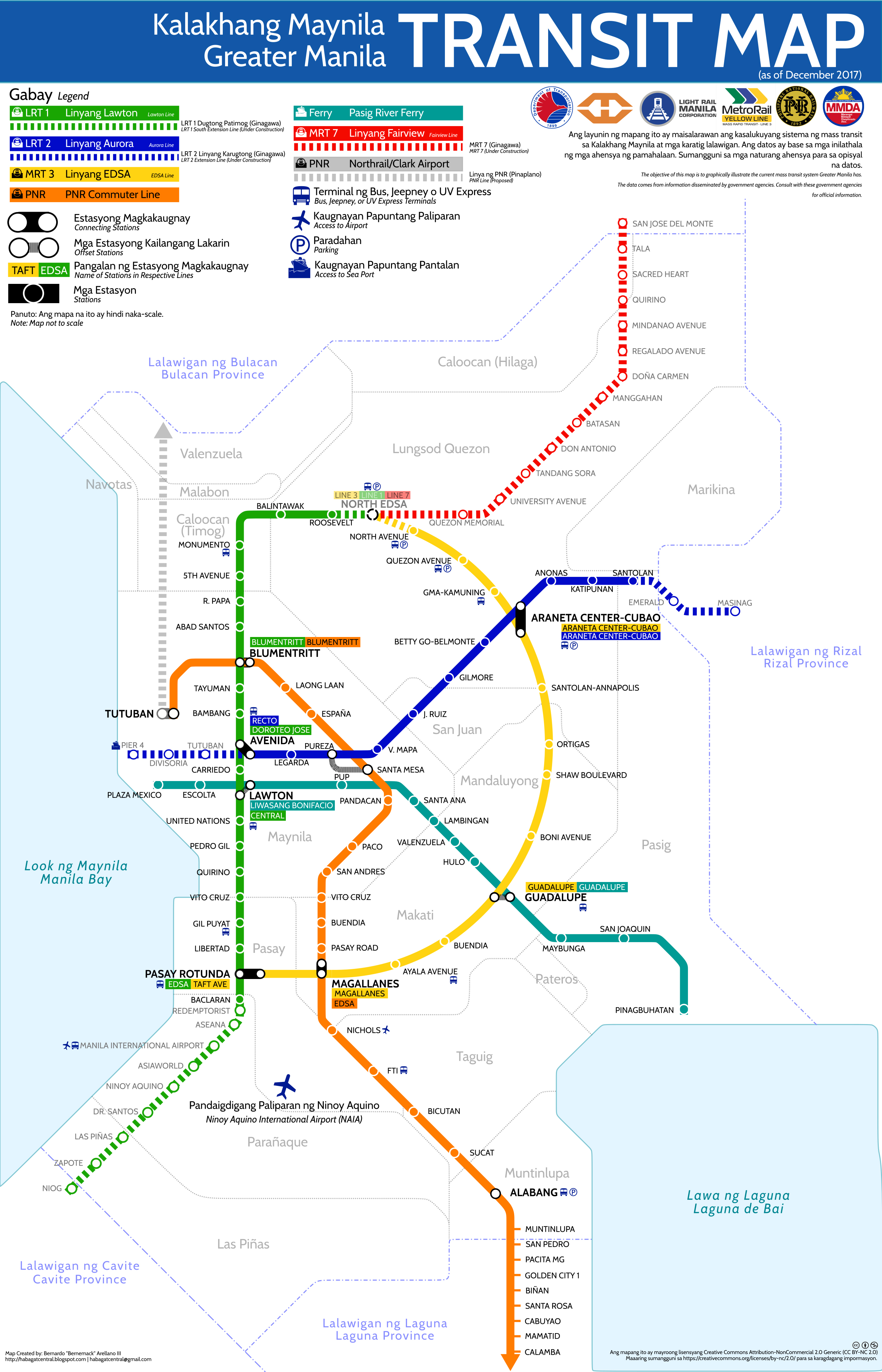 Mrt Subway Map.Finally A Greater Manila Transit Map For All Commuters Visor Ph