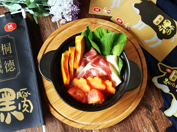 蔬菜蕃茄豬肉鍋_大成桐德黑豚 dachan-food-pork (10)