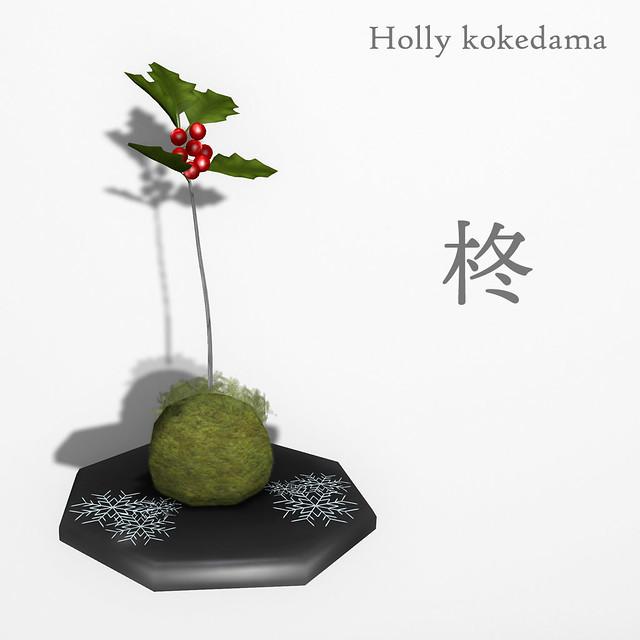 *NAMINOKE*Holly Kokedama