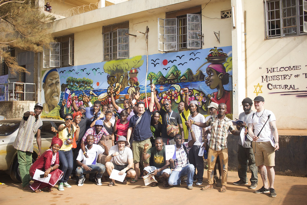 Spray Creative in Sierra Leone with Freedom Festival.