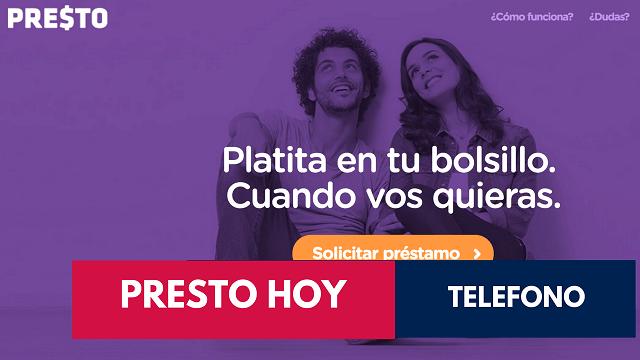 Telefono PRESTO HOY