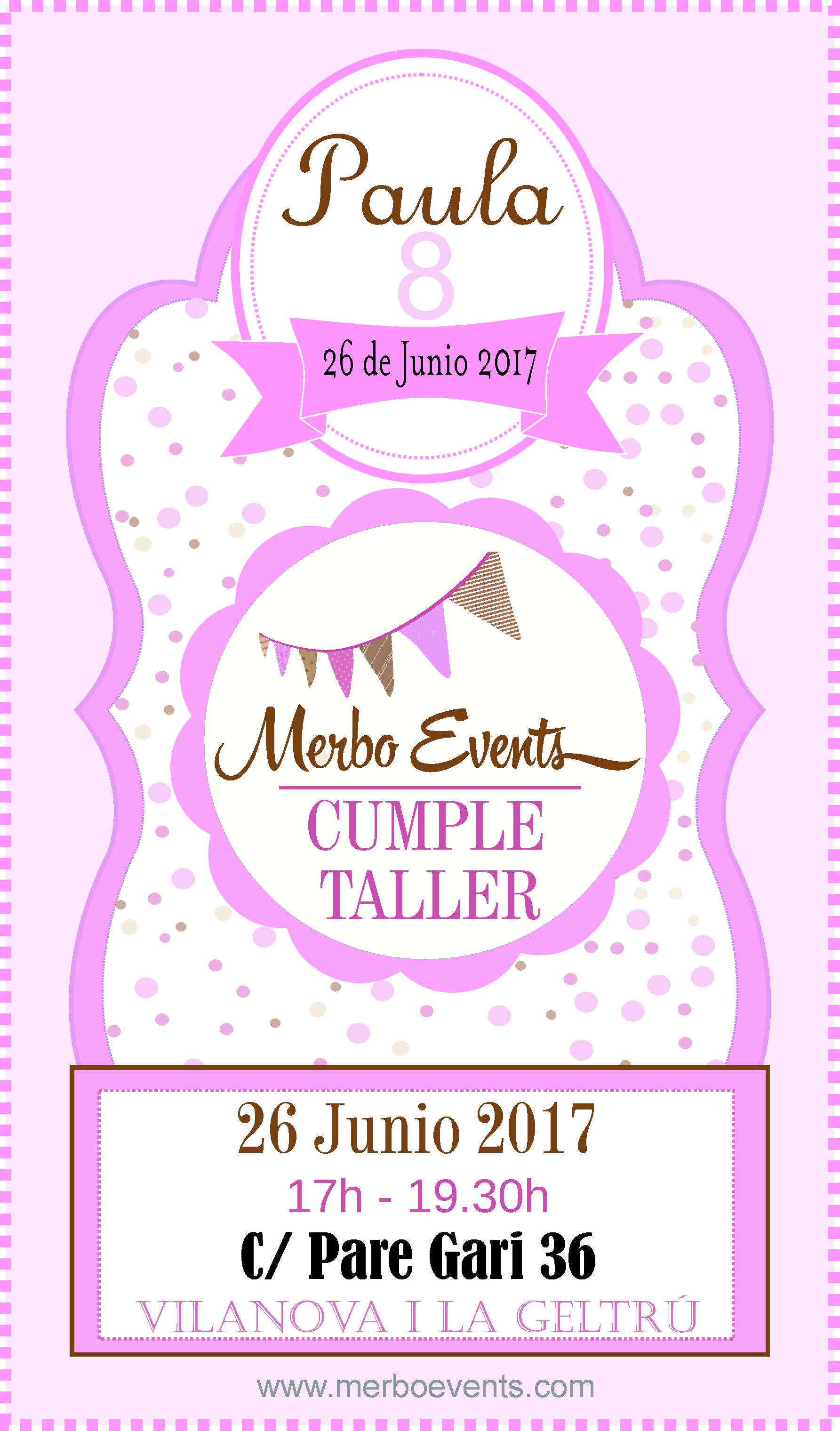 cumple taller Merbo Events