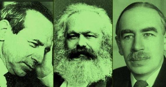 Michał Kalecki, Karl Marx, John Maynard Keynes