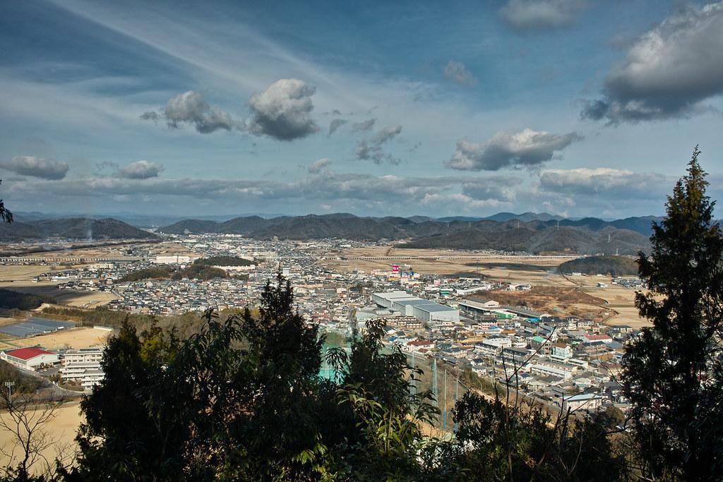 新庄山城跡からの眺め
