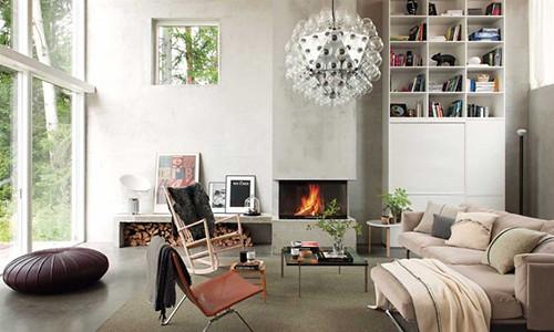 casa escandinava _estilo_contemporáneo_chimenea