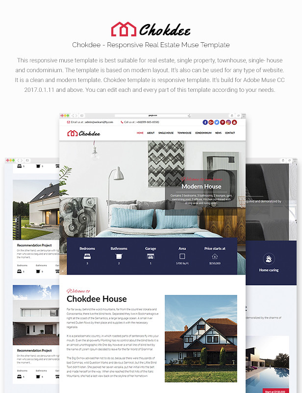 Chokdee - Responsive Real Estate Muse Template - 7