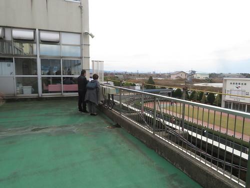 金沢競馬場の指定席バルコニー