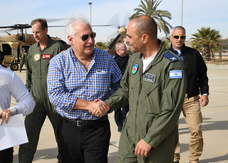 Ambassador Friedman Visits IAF F-35 Adir