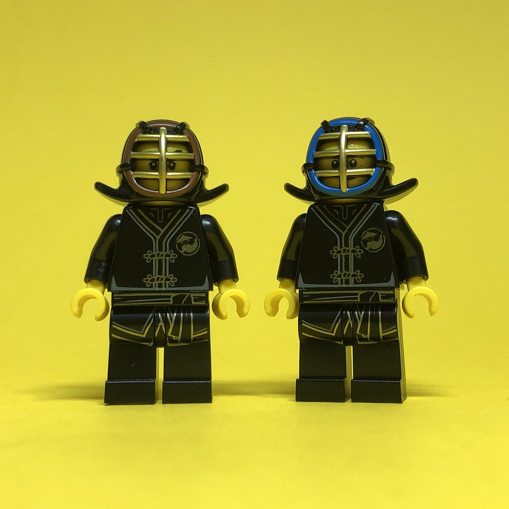 Wearing the provided Kendo Face Guards