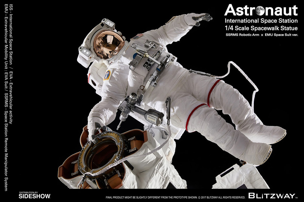 令人驚豔的太空人收藏~ Blitzway The Real 系列【太空人 ISS EMU ver.】Astronaut – ISS EMU ver. 1/4 比例全身雕像作品