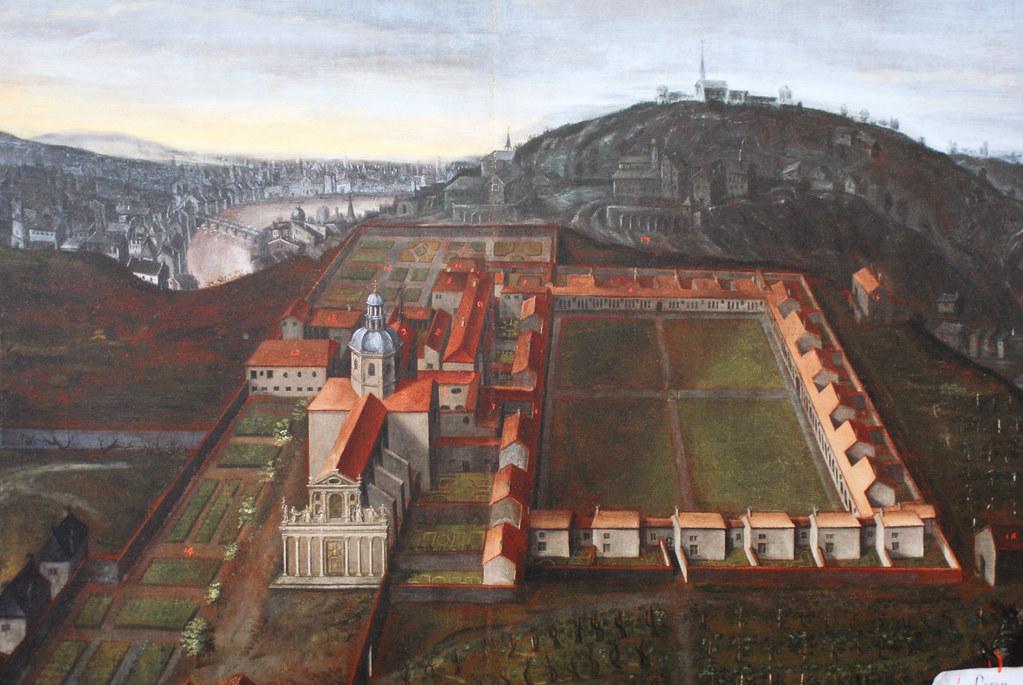 Domaine des Chartreux à Lyon sur un tableau du 18e siècle (?).