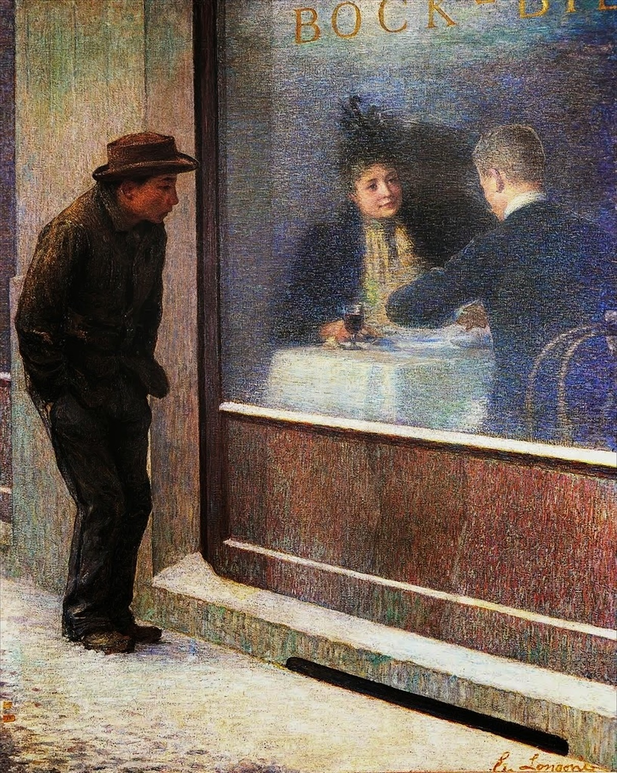 Emilio Longoni (1859-1932) Reflections Of A Hungry Man 1893