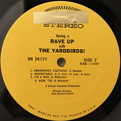 THE YARDBIRDS:HAVING A RAVE UP WITH THE YARDBIRDS(LABEL SIDE-B)