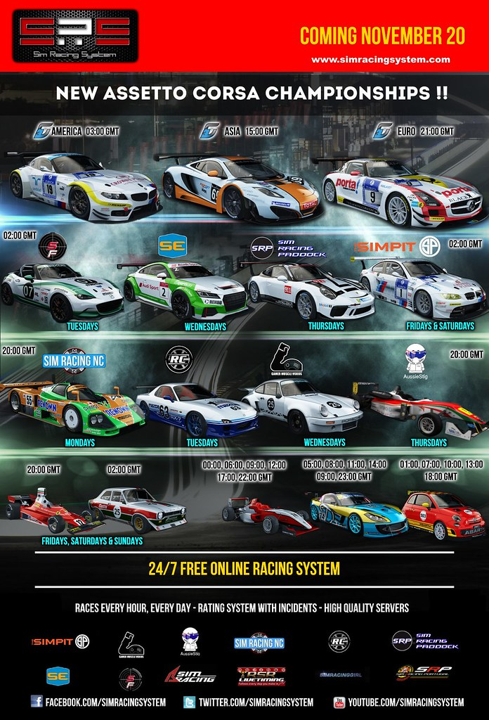Sim Racing Systems - New SRS Assetto Corsa Championships