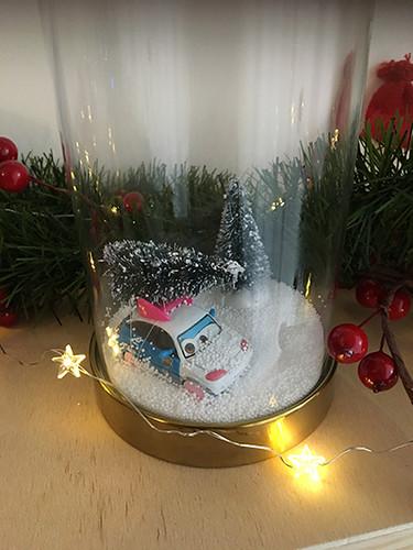 diy decor árbol navidad coche
