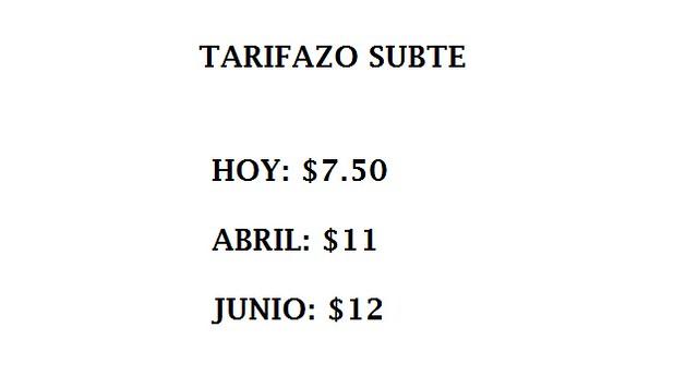 Tarifazo 2