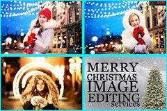 Christmas Fashion Photo Editing and Model Image Retouching Services