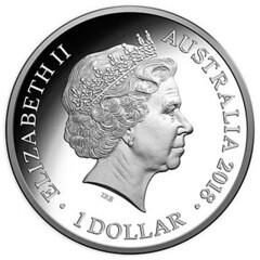 Australia's Convict Era silver coin obverse