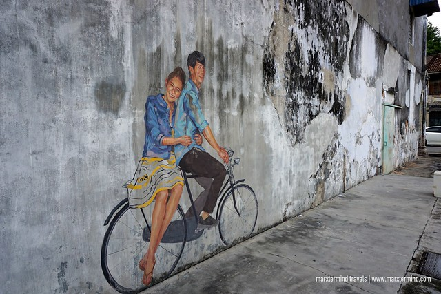Couple on a Bicycle Penang Street Art