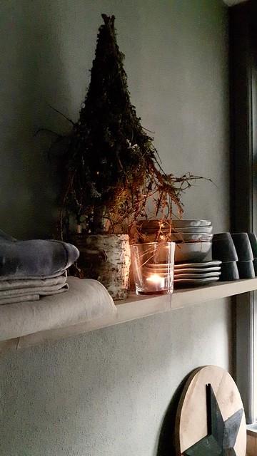 Keukenplank linnen theedoeken Broste Copenhagen servies