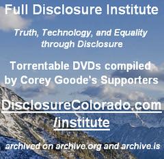 Disclosure Legally Torrentable DVDs - DisclosureColorado.com