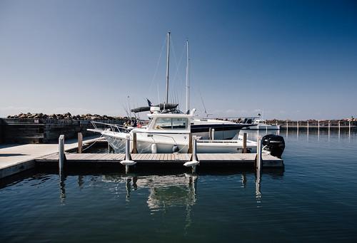 docked at sand bay
