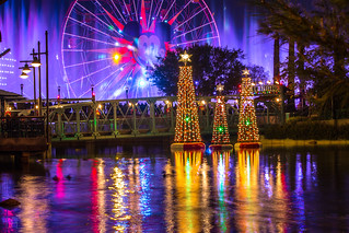 World of Color Season of Light Trans Siberian Orchestra from a distance