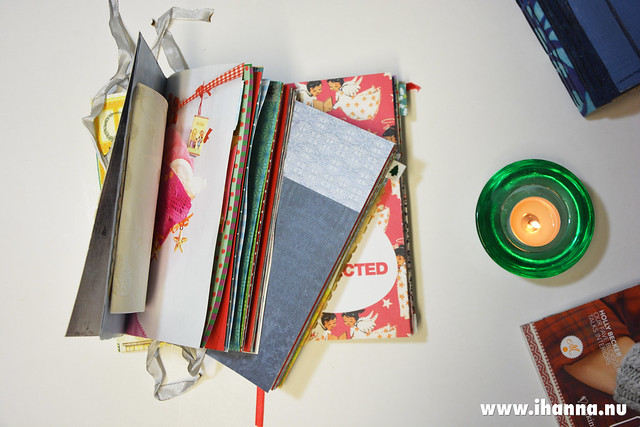 A Pile of Handmade Christmas Journals - hand made by iHanna, now for sale at http://ihanna.etsy.com #christmasjournal