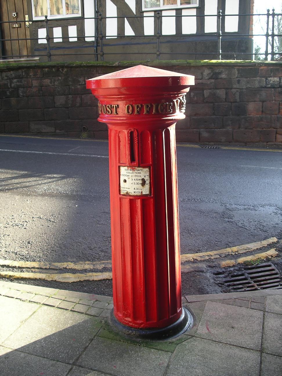 1856 type PB1/viii at the West Gate, Warwick, Warwickshire, England