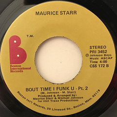 MAURICE STARR:BOUT TIME I FUNK U(LABEL SIDE-B)