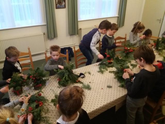 Club Het Visnet - Kerststukjes maken