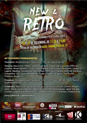 NEW & RETRO Valladolid Game FESTIVAL 2017 Programa oficial
