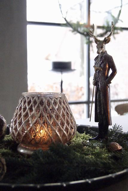 Windlicht kerstgroen kerstbeeld