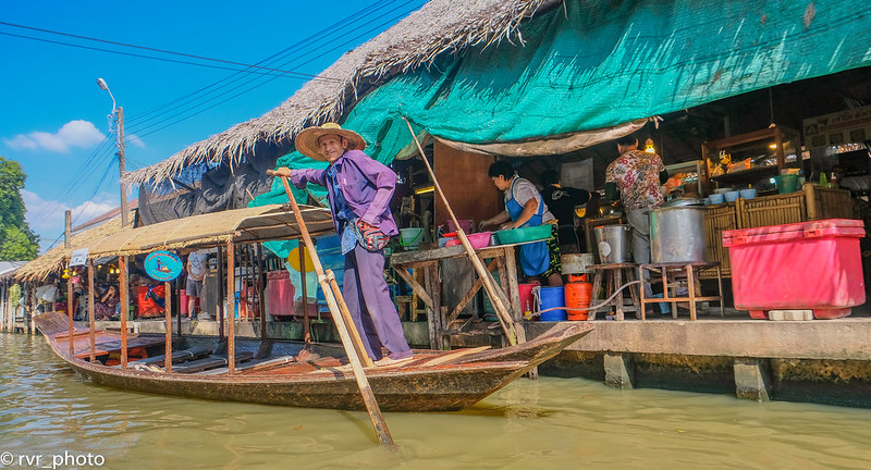 Mercado flotante de Khlong Lat Mayom, Tailandia