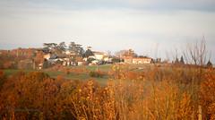 Flamboyance sur le village une fin d'après-midi d'hiver