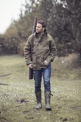 Winter Shooting in Tweed Jacket