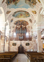 Orgue et nef de l'Abbaye d'Ebersmunster