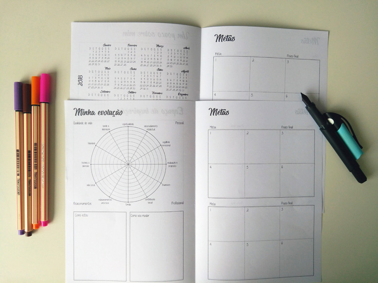 Planner Pergaminho Amarelo