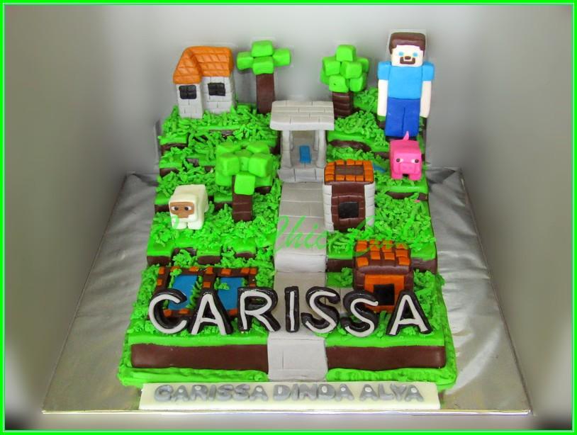 Cake Minecraft CARISSA 15cm