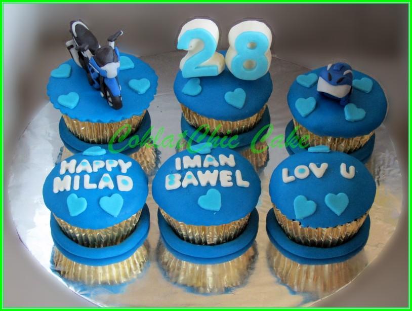 Cupcake set Motor Iman Bawel