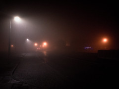 A foggy night in Liverpool